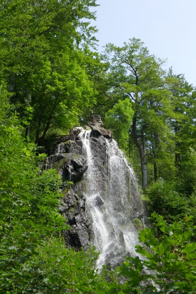 radau waterfall in the harz mountains