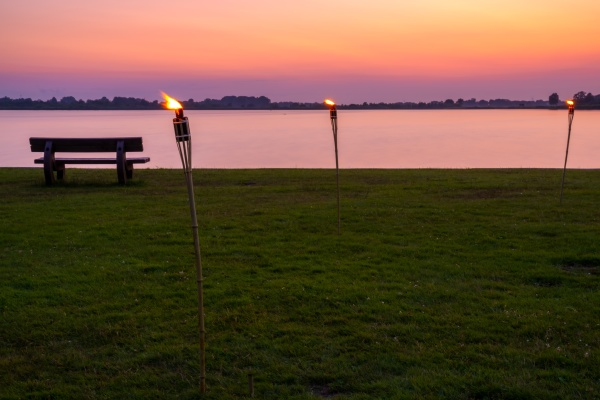abends binnensee deutschland germany lake landschaft