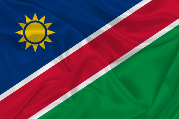 3d flag of namibia on fabric