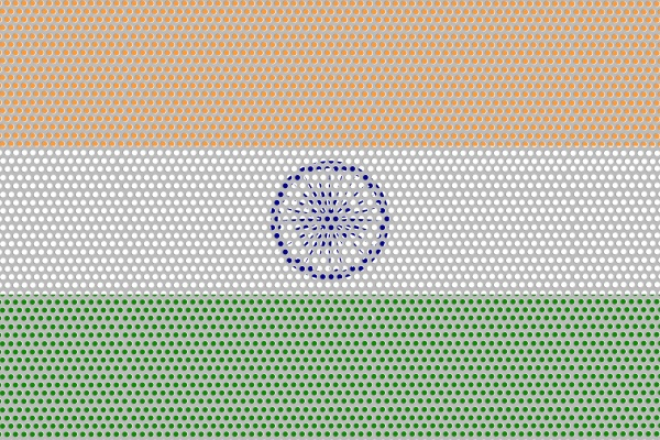 3d flag of india on metal
