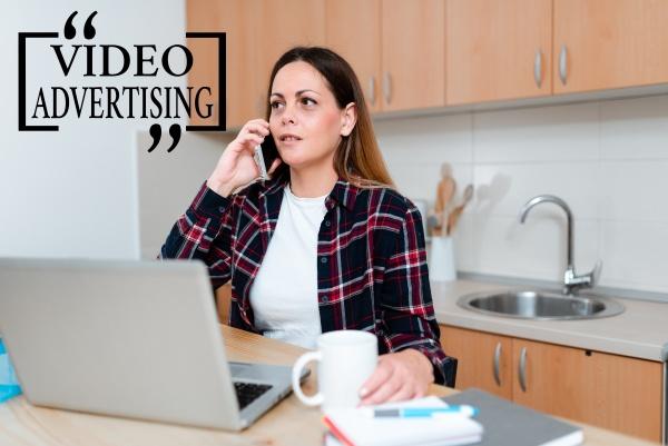handwriting text video advertising conceptual photo