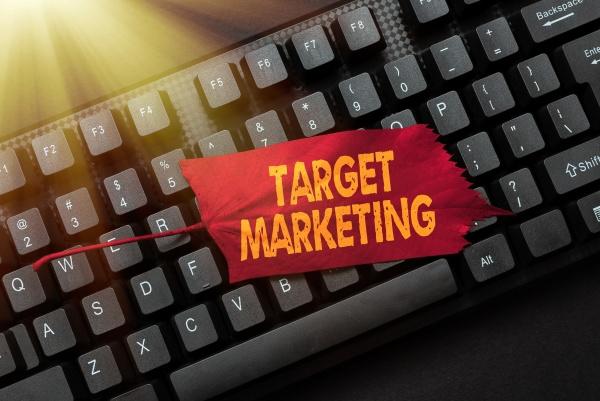 conceptual display target marketing business idea
