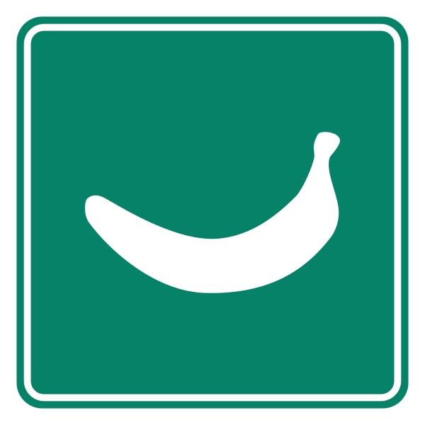 banana and road sign