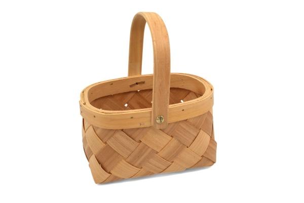 houseware storage basket with handle over
