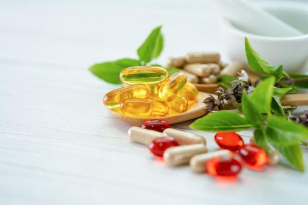 alternative medicine herbal organic capsule with