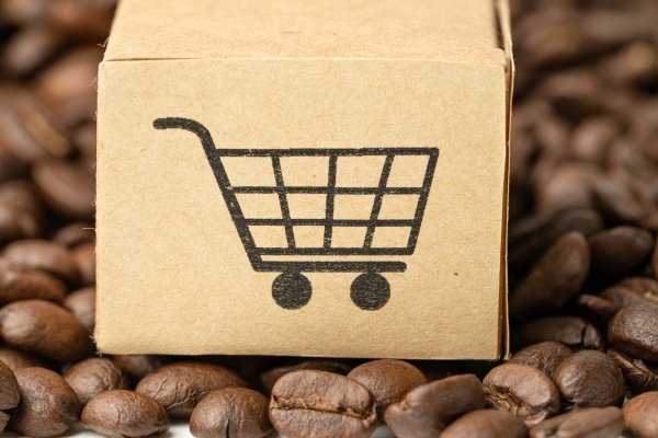 box with shopping cart logo symbol