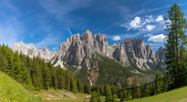view of the catinaccio group and