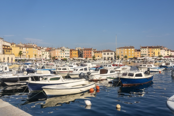 croatia istria rovinj sailboats in harbor