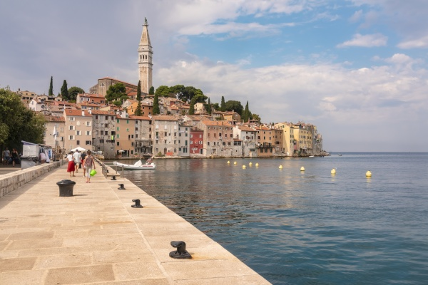 croatia istria rovinj old city with