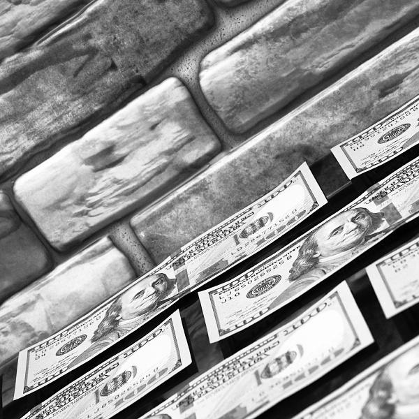 dollars in one hundred dollar bills