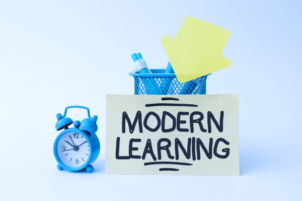 conceptual caption modern learning business overview