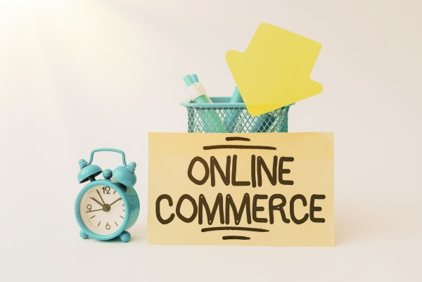 writing displaying text online commerce business