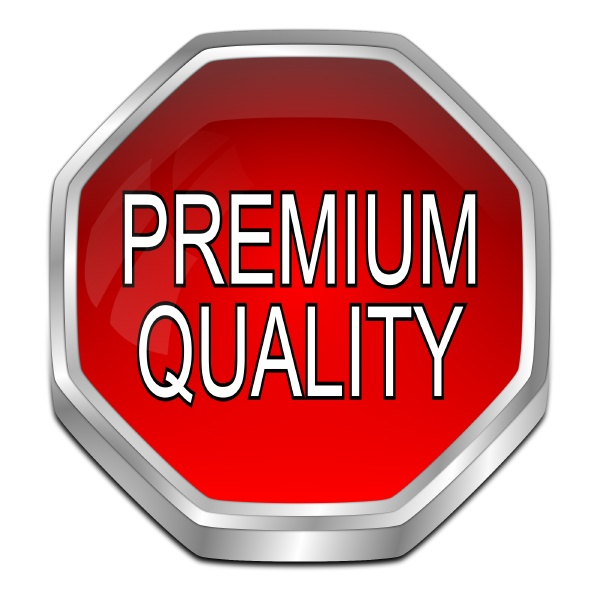 premium quality button red 3d