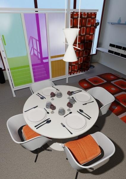 3d rendering vintage apartment
