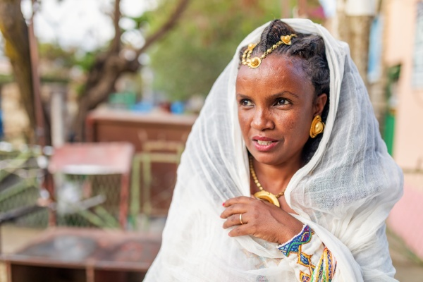 beautiful woman with traditional hairstyle mekelle