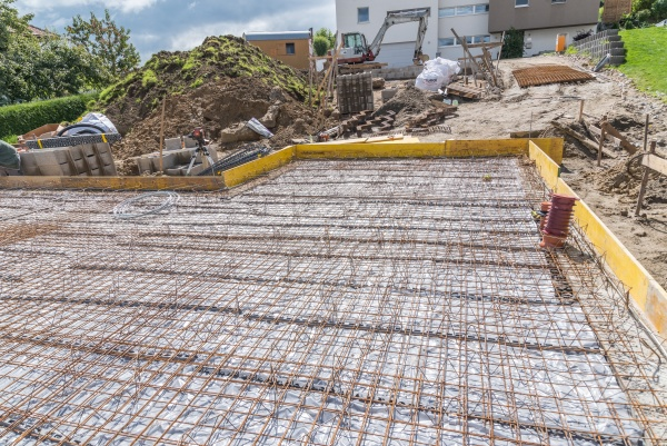 construction site for house building