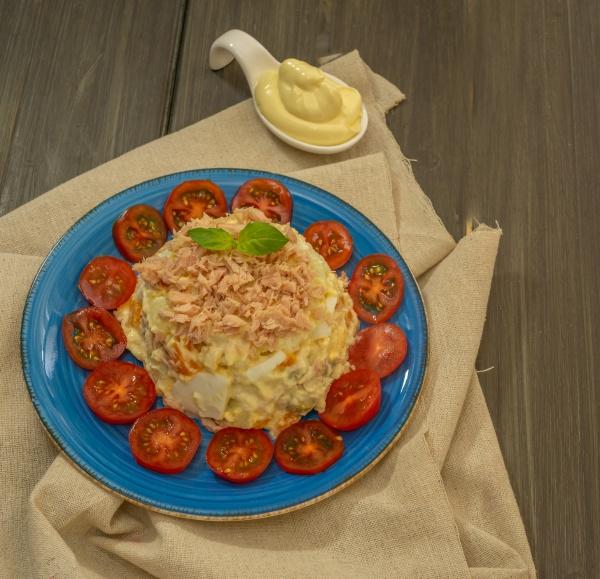 russian salad typical summer fresh food