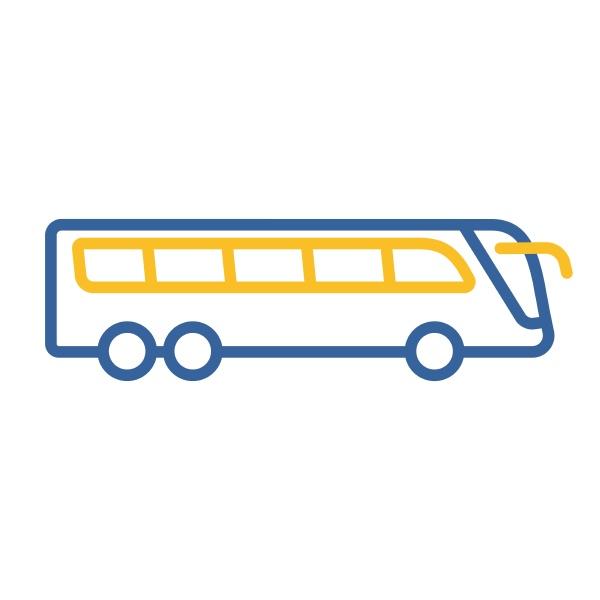 travel bus flat vector icon