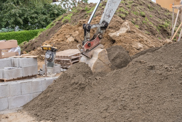 dredging on construction site