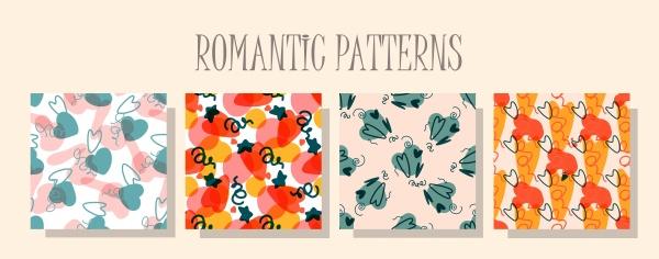romantic love pattern a set