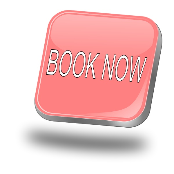 book now button pastel red