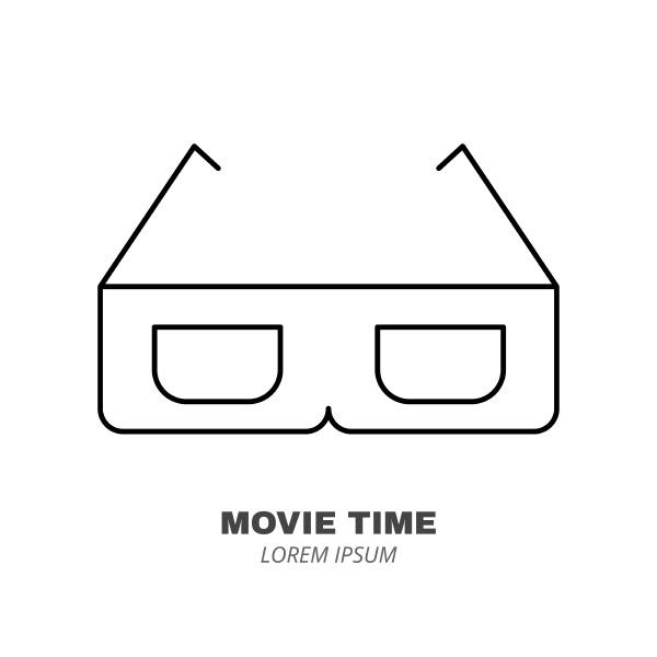 cinema food line icon concept cup