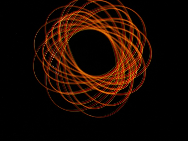 light abstract forms symmetrical round different