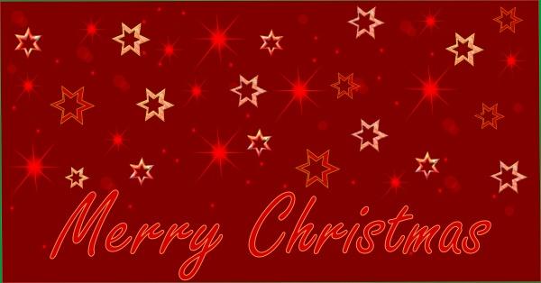 christmas card merry christmas red