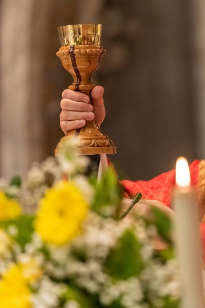 the goblet during the eucharist