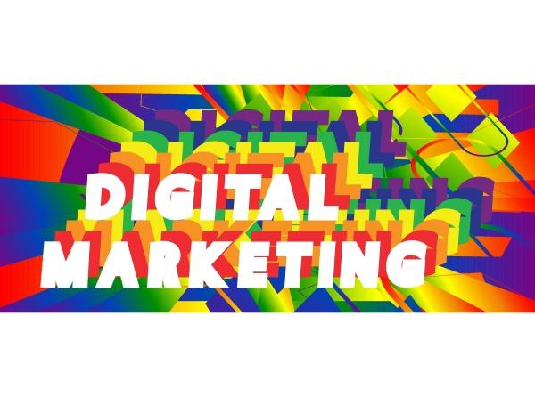 digital marketing vector logo quotes and