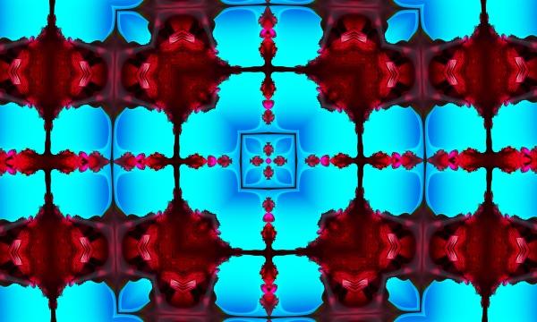 cyan seamless pattern with cross purple