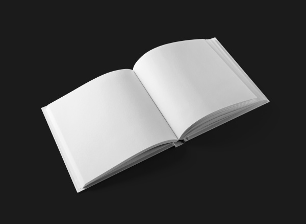 opened blank booklet