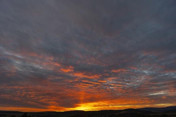 sunset in bile karpaty slovakia