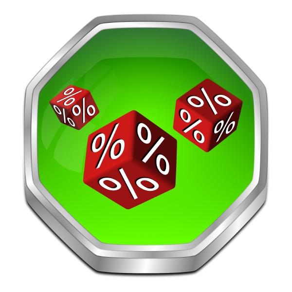 discount button green red 3d