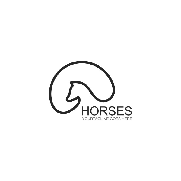 horse icon template vector illustration