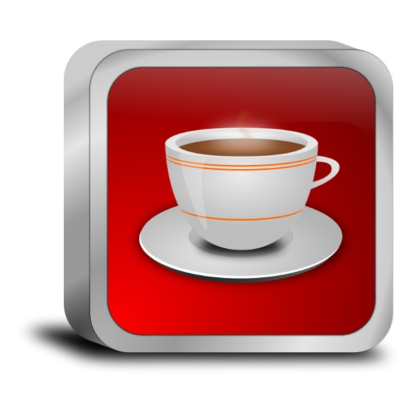 button with a cup of coffee