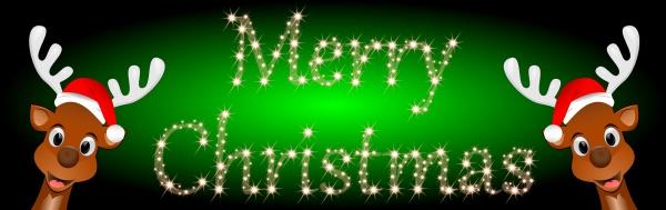 reindeers wishing merry christmas illustration