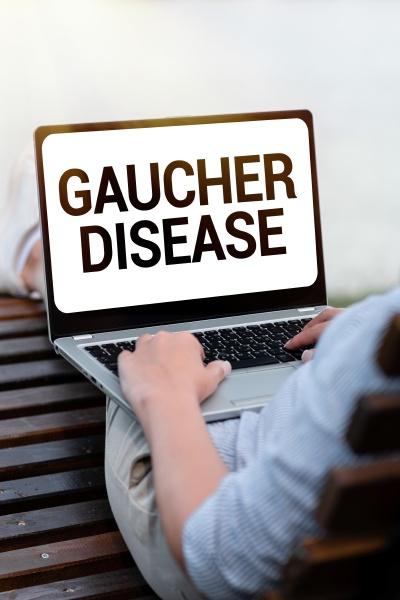 conceptual display gaucher disease business idea