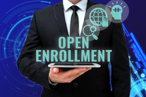 inspiration showing sign open enrollment conceptual