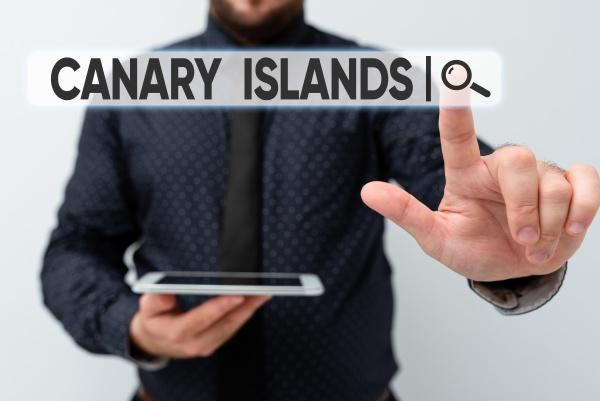 conceptual caption canary islands business idea
