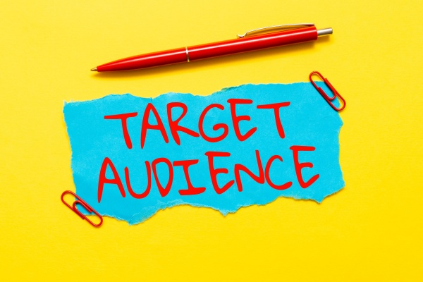 text showing inspiration target audience business