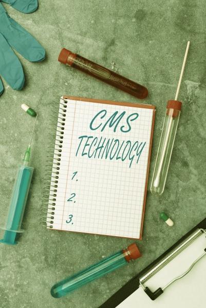 hand writing sign cms technology internet