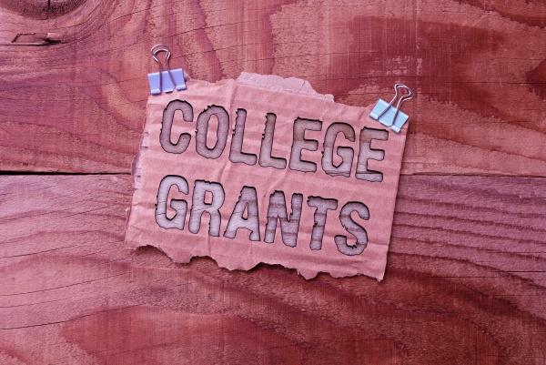 conceptual caption college grants word written