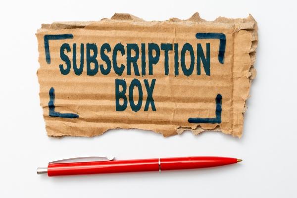 conceptual display subscription box business showcase
