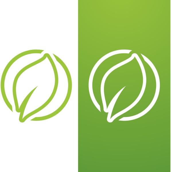 leaf green logo ecology nature element