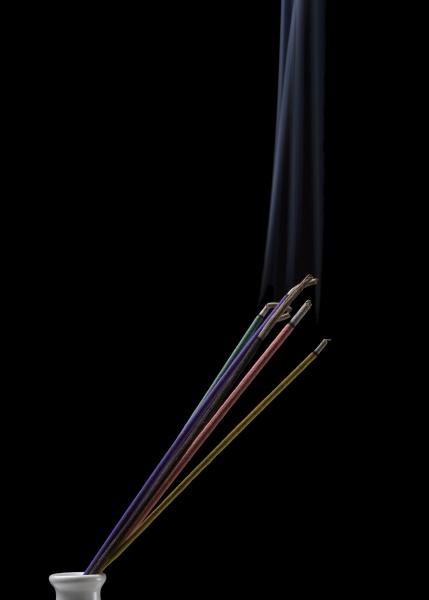burning indian or thai incense aroma