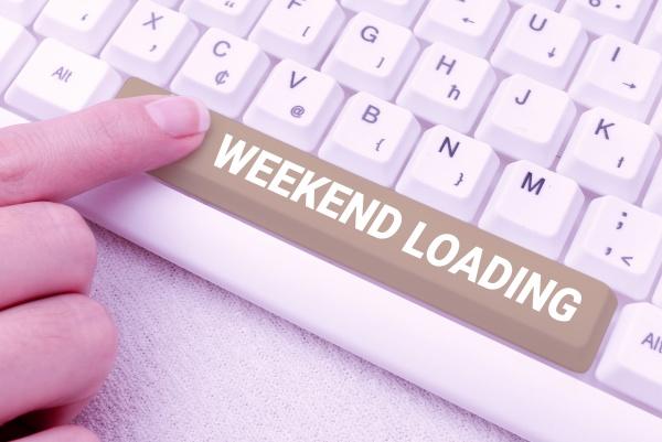 handwriting text weekend loading word written