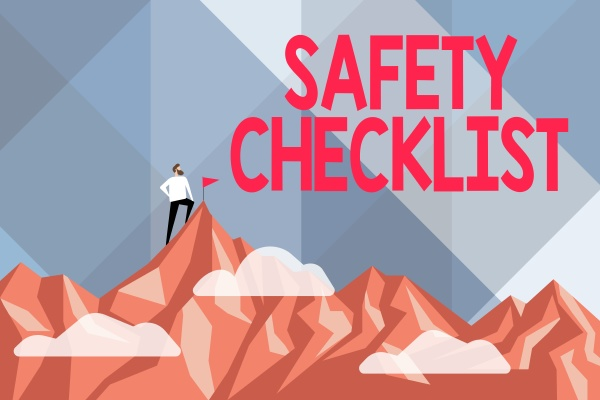 text showing inspiration safety checklist