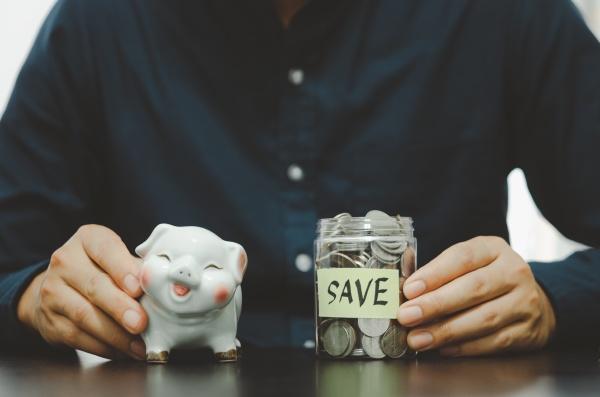 businessman with saving money