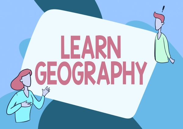 conceptual caption learn geography business idea
